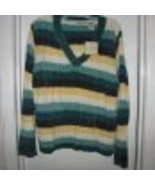 White Stag Long-Sleeve Striped V-Neck Sweat - $10.00
