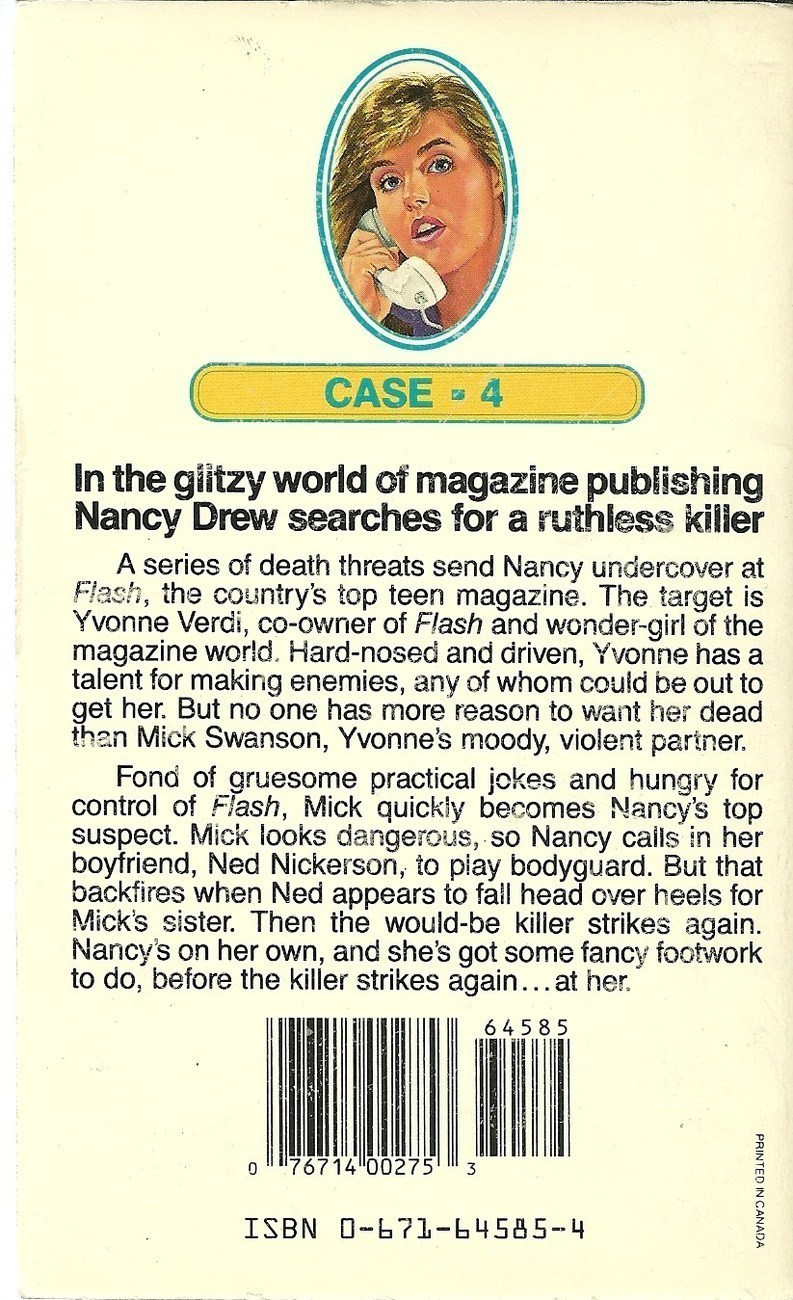Nancy Drew Case 4 Smile And Say Murder by Carolyn Keene Softcover Book