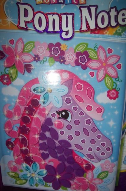 My First Sticky Mosaics Pony Notebook 250 + Pieces Jewels Story Journal NEW