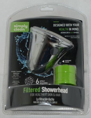 Simply Clean 8485000SC Chrome Filtered Shower Head Healthier Skin Hair
