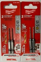 Milwaukee 48-89-4803 Metric SHOCKWAVE Titanium RED HELIX 2MM 2 Packs - $7.18