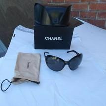 Chanel woman sunglasses 4165 c.108/87 black gunmetal frame - $296.95