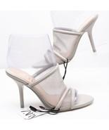Zara Womens High Heel Mesh Sandals Sz 8 Eu 39 Grey Pumps 5625/001 Open T... - $69.29