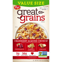 Post, Great Grains Breakfast Cereal, Cranberry Almond, 17 oz - $8.00