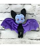 Disney Junior Vamprina Vampire Bat Plush Black Purple Cute Soft Stuffed ... - $9.89