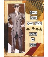 ACEO ATC Art Card Collage Print Men Grow Your Own Dope Plant A Man Humor - $2.75