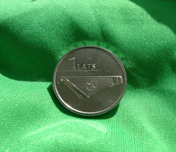Latvia, 1 LATS 2013 KOKLE Musical Instrument - Coin for Luck - $5.50