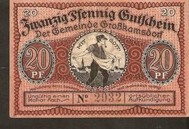 Germany, Notgeld - Grosskamsdorf Gemeinde - 20 pfennig 1921 no. 2932 - $6.00