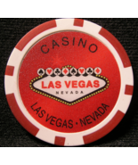 "N/D Red ""Welcome To Las Vegas"" Casino Chip - (sku#2252) - $2.29"