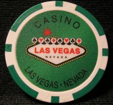 N/D Green Welcome To Las Vegas Casino Chips - (sku#2254) - $2.29
