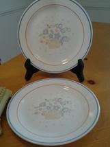 "Corelle, Country Cornflower, (2) Bread Plates 7.25"" Diameter, Vintage Go... - $6.99"