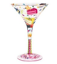 Love My Lolita Birthday Cake Martini Glass, SO FUN! - $21.76