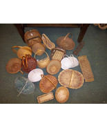 "Free ship Wicker basket lot huge lot of 23 most are 6"" to 8"" baskets cra... - $39.99"