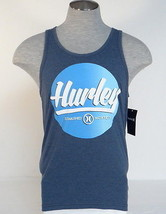 Hurley Signature Premium Fit Heather Navy Blue Tank Muscle Shirt Mens NWT - $26.24