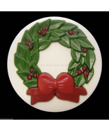 Holiday Christmas Wreath Glycerin Novelty Soap ... - $5.25