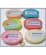 Bulk Lot 6 Oval Bars Handmade Soap Glycerin or ... - $28.00