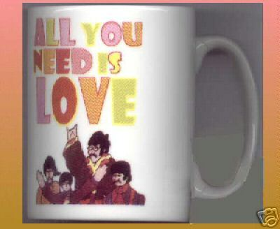 THE BEATLES All You Need is Love CERAMIC MUG