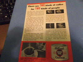 Kelloggs Kaffee Hag 97% Caffeine Free Coffee Double Sided Ad - $10.00