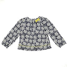 Gymboree Girls Top 5T Flower Shower Blue White Yellow Daisy Floral A Line Blouse - $14.99
