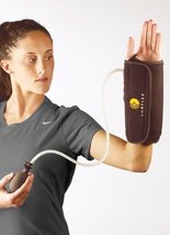Corflex Cryo Pneumatic Wrist Compression Wrap with Cold Therapy-Left-2 Gels - Bl - $47.99