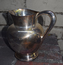 Reed & Barton Mayflower Water Pitcher Silver Silverplate 5460 Vintage - $43.61