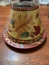 Yankee Candle Topper/ Shade and Candle Plate/ Fall Acorns - $19.99