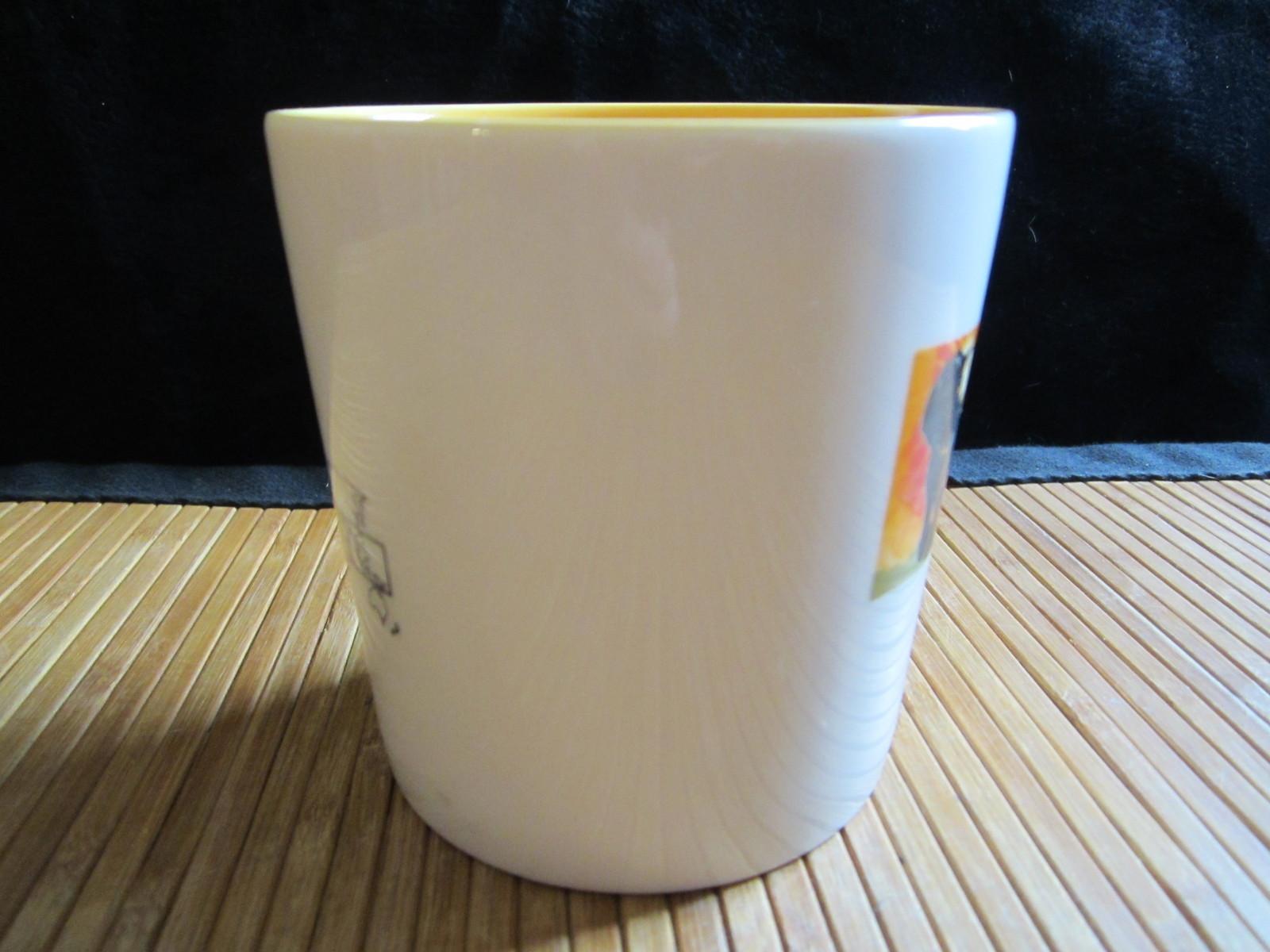 2005 Starbucks Kenya Africa Arabia Coffee Mug Tea Cup Latin America Yellow 16 oz