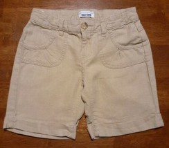 Old Navy Girls Shorts Size 12 Regular Tan Khaki Linen Cuffed - $14.99