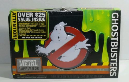"GHOSTBUSTERS FIND IT METAL PENCIL SUPPLY BOX 5 1/2"" X 8 3/8"" X 2 3/8"" FTO7451"