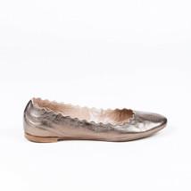 Chloe Lauren Metallic Scalloped Ballet Flats SZ 39.5 - $105.00