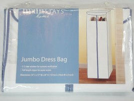 "Mainstays Home Jumbo Dress Bag Closet Storage Full Length 54"" x 17"" x 20... - €9,15 EUR"