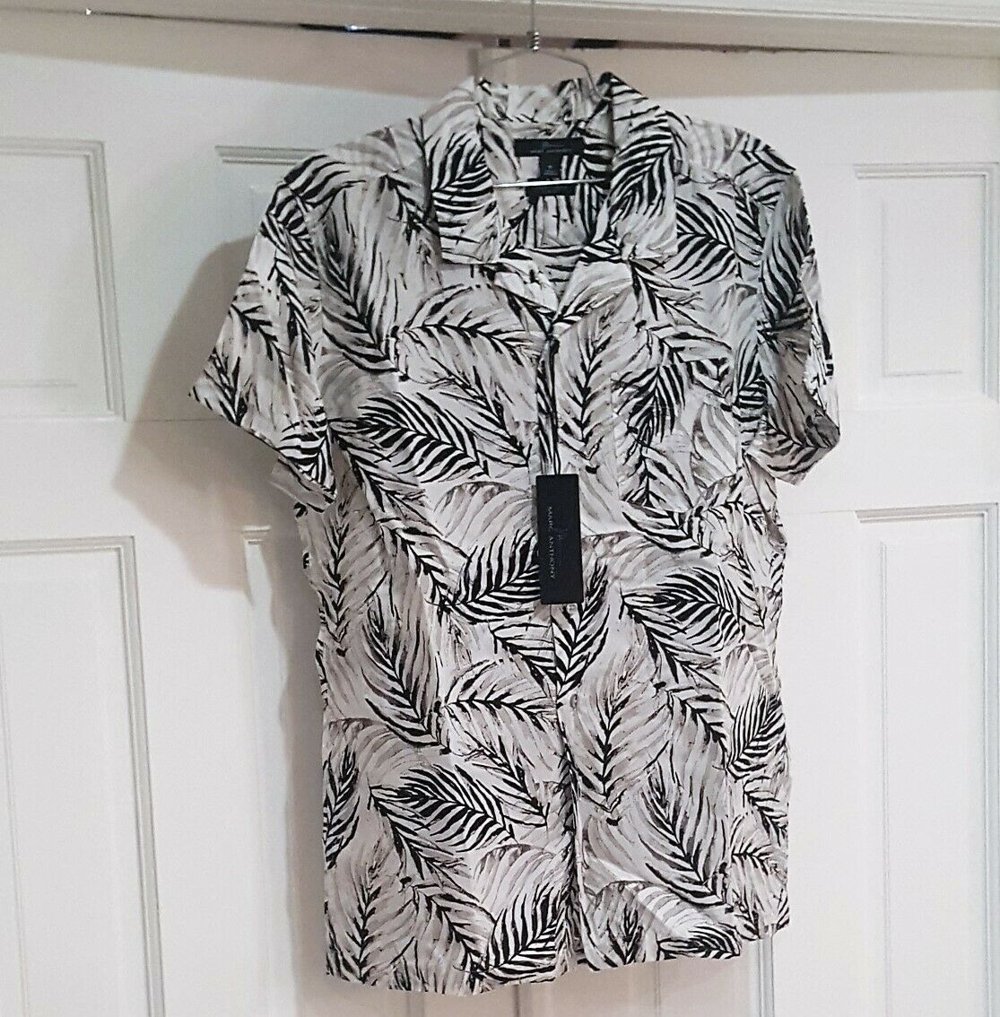 Primary image for MEN'S MARC ANTHONY SLIM FIT SUMMER SHIRT WHITH , BLACK AND BEIGE SIZE MEDIUM