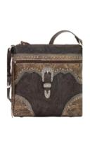 American West- Saddle Ridge Zip Top Shoulder Bag (Chocolate) - $228.00