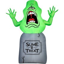 Halloween Inflatable 5 Slimer on Tombstone Ghost Busters Prop Decoration... - £72.14 GBP