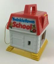 Twinkletown School Building Light up Bell Key Toy Matchbox Vintage 1984 80s Toys - $27.67