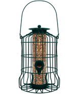 Squirrel Proof Bird Feeder Hanging Cage Seed Food Outdoor Small Wild Gar... - £21.64 GBP