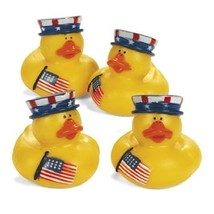 GIFTEXPRESS® 12 pcs Patriotic Rubber Duckies/4th of July Rubber Ducks/Pa... - £21.81 GBP