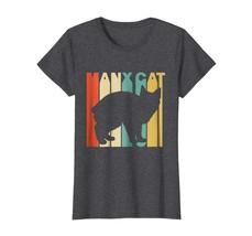 Dad Shirts - Vintage Shirts Manx Cat Silhouette T-Shirt Wowen - $19.95+