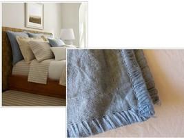 $185.00 Ralph Lauren Madalena Wetherly Linen European Sham, Blue- display - $31.68