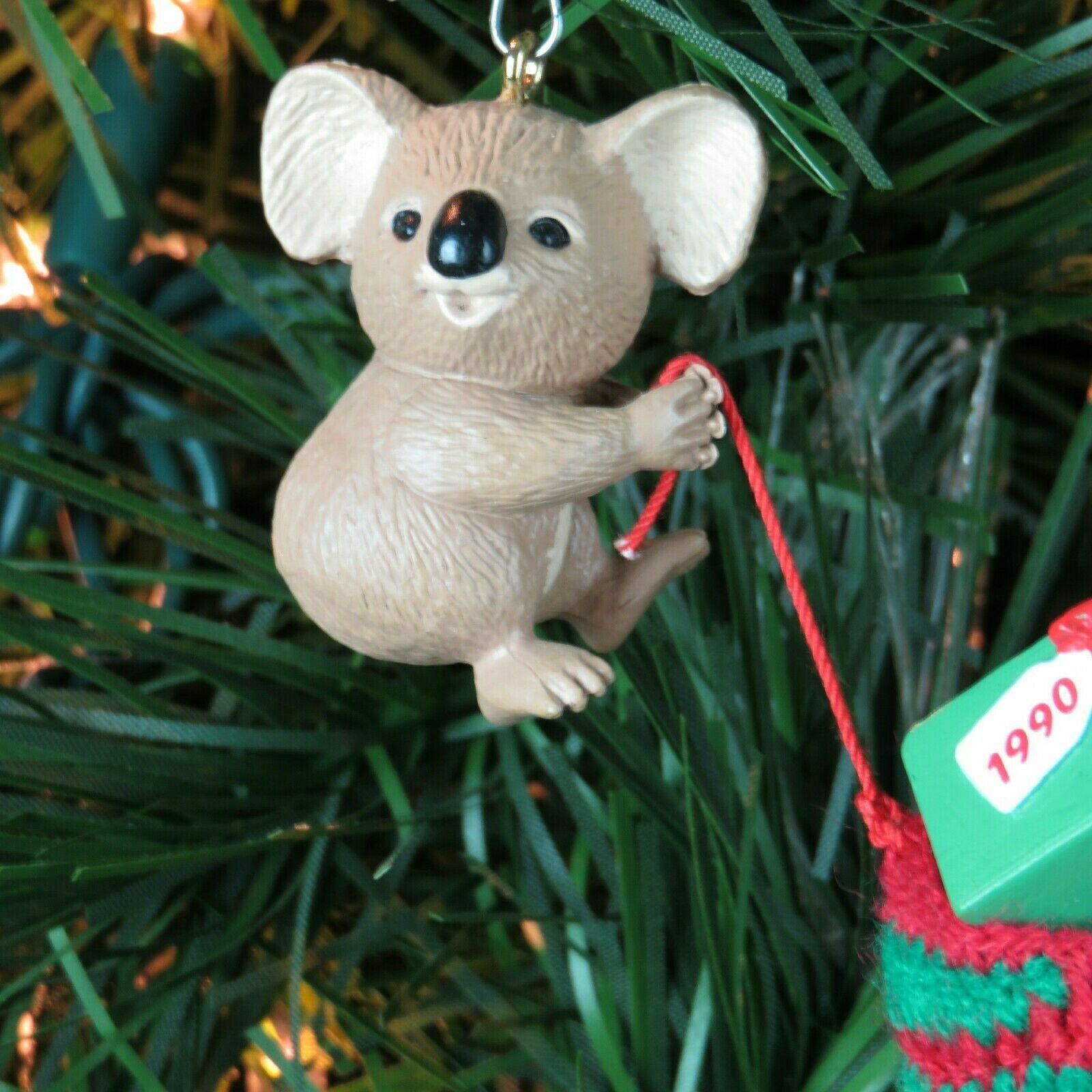 Vintage Koala Christmas Stocking Ornament Hallmark Keepsake 1990 image 12