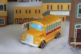 "POTTERY BARN MERCURY GLASS SCHOOL BUS ORNAMENT -NWT- GET AN ""A"" IN HOLID... - $24.95"