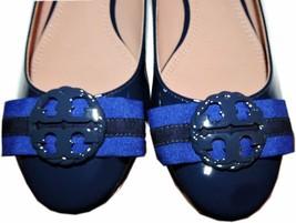 Tory Burch Maritime Ankle Wrap Flats Cobalt Blue Ballet Ballerina Bow Sh... - $159.00