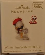 Hallmark - Winter Fun With SNOOPY - Peanuts - Miniature Ornament - $10.59