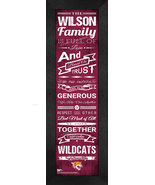 "Personalized Bethune–Cookman University ""Wildcats""24x8 Family Cheer Fram... - $39.95"