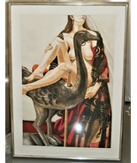 Philip Pearlstein Model with Ostrich Large Color Etching 1995 Edition of 32 - $2,850.00