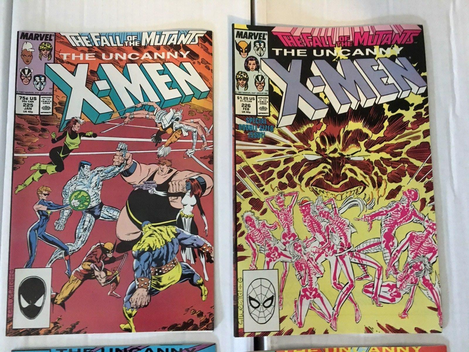 Uncanny X-Men 223 224 225 226 227 1987 Marvel Comic Book Lot VF Condition X-MEN