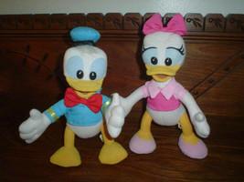 Walt Disney Vintage Donald & Daisy Duck Bendable Dolls - $67.50