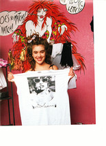 Alyssa Milano teen magzine pinup clipping holding a Petsey Johnson t-shirt