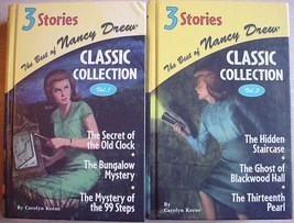 Best of Nancy Drew Vol. 1 & 2 Classic Collection 3 stories in 1 Carolyn ... - $12.00