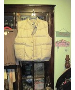 Hunting Vest Fishing Red Head Duck Down Insulated Tan Utility Pockets Me... - $18.00